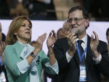 María Dolores de Cospedal, junto a Mariano Rajoy en el Congreso Nacional del PP