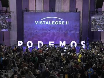 Vista general del Congreso de Podemos en el Vistalegre II