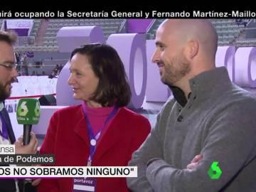 Carolina Bescansa y Nacho Álvarez, en Vistalegre II