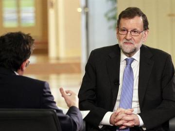 Mariano Rajoy en un entrevista en TVE