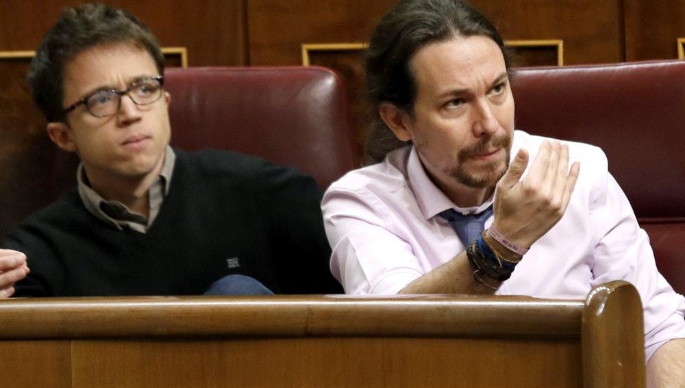 Pablo Iglesias en la sesión de control al Congreso