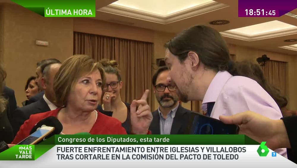 Rifirrafe entre Pablo Iglesias y Celia Villalobos