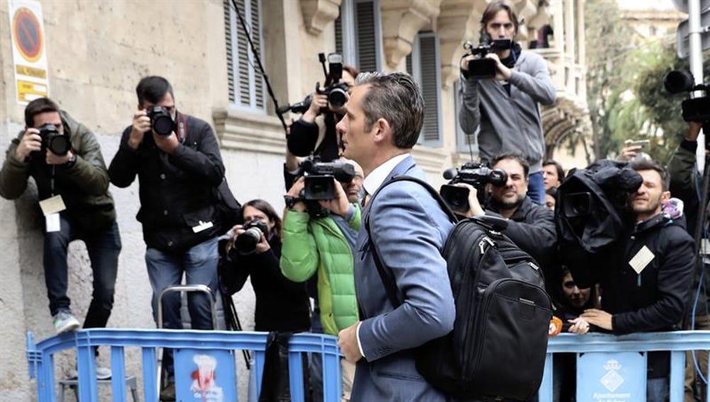Iñaki Urdangarin a su llegada a la Audiencia de Palma