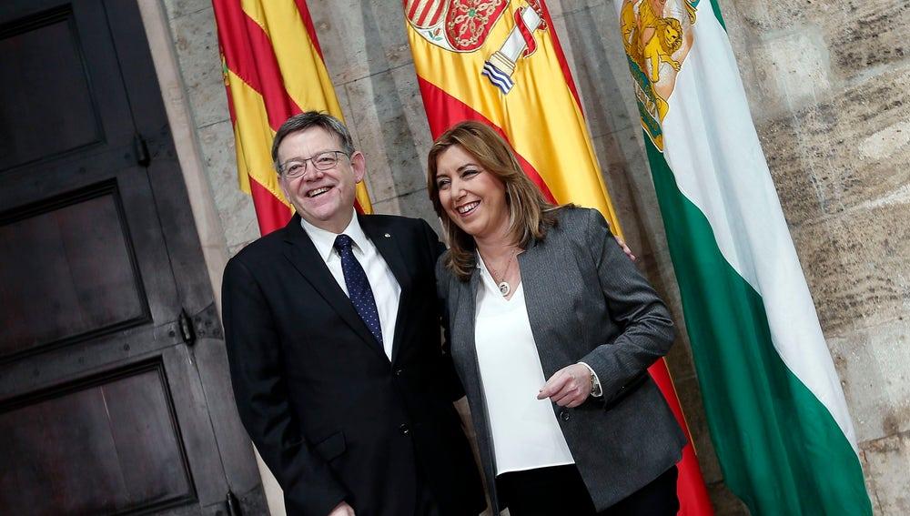 Ximo Puig y Susana Díaz en un acto conjunto