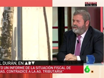 """Frame 107.705559 de: Miguel Durán: """"Luis Bárcenas, hasta ahora, en Gürtel, le ha dado un soberano baño al ministerio público"""""""