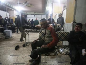 Heridos en Siria tras un bombardeo en Douma