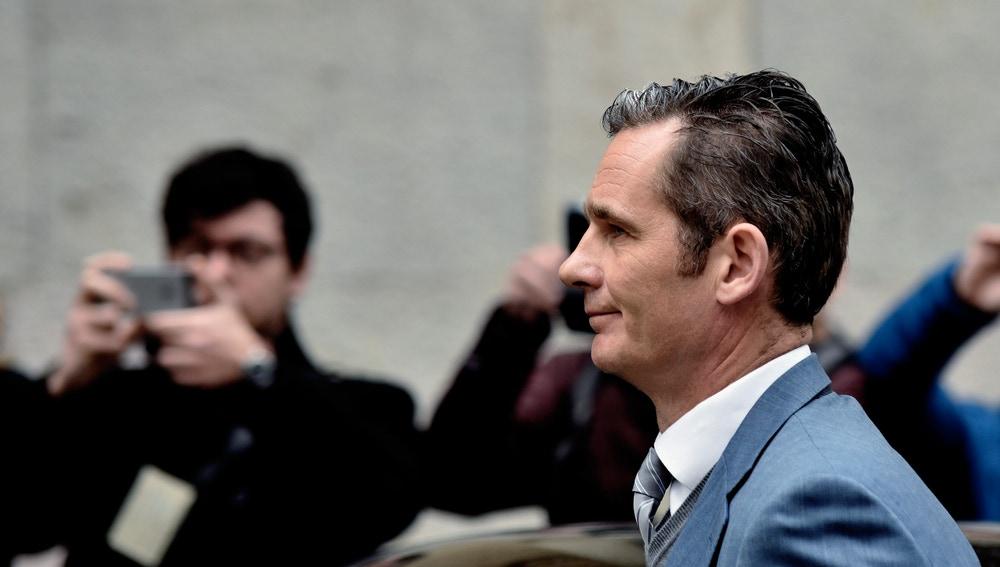 Iñaki Urdangarin en la Audiencia de Palma