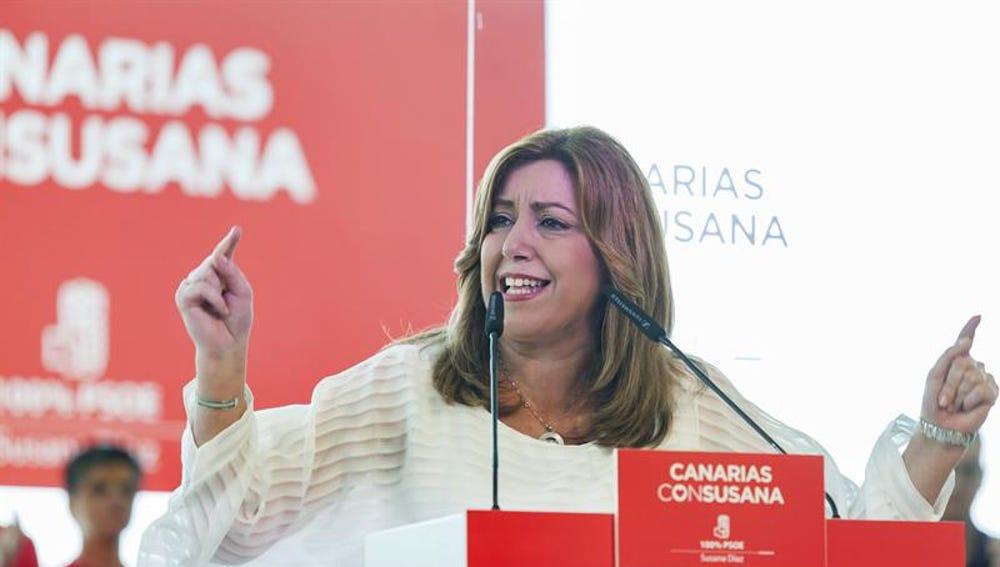 Susana Díaz, durante el acto celebrado en Santa Cruz de Tenerife