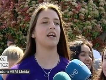 Andrea Gómez, jugadora del AEM Lleida