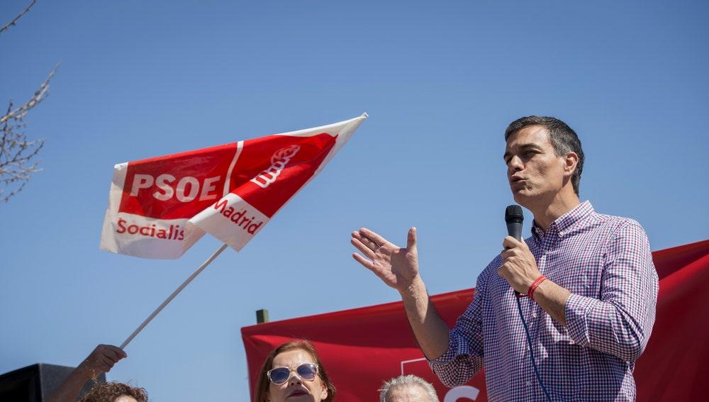 El ex secretario general del PSOE y aspirante a la reelección, Pedro Sánchez