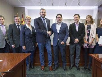 Reunión del PP y Ciudadanos en Murcia