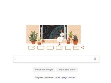 Homenaje de Google a María Zambrano en su doodle