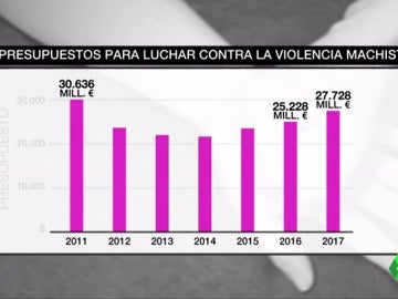 Los presupuestos de Estado contra la violencia de género han recortado un 8,6% respecto al año 2011