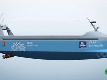 El primer buque eléctrico y autónomo viajará en 2020 sin tripulación
