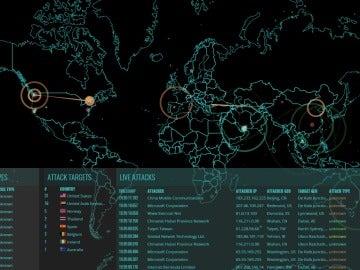 Mapa de ciberataques en tiempo real