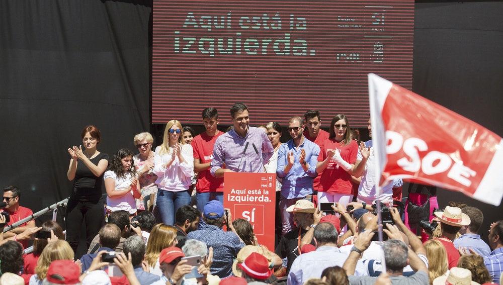 El exsecretario general del PSOE y candidato a las primarias de este partido, Pedro Sánchez