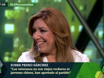 """Frame 1.816906 de: Susana Díaz: """"Me sentaré con Pedro Sánchez y Patxi López para ver de qué manera pueden aportar al partido"""""""