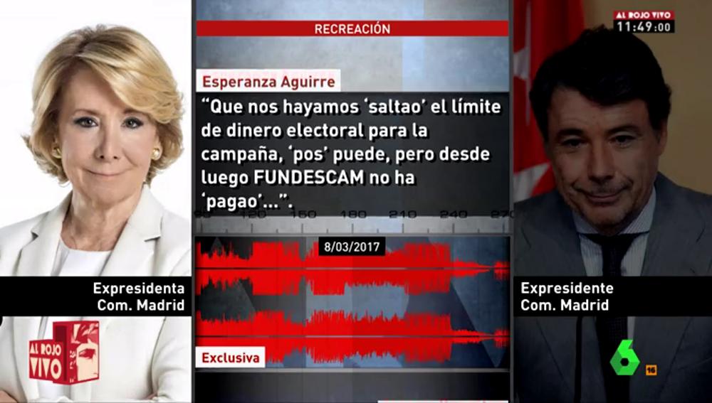 Esperanza Aguirre habla con Ignacio González