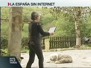 Una mujer, en busca de internet