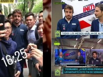 Fernando Alonso, una estrella en EEUU