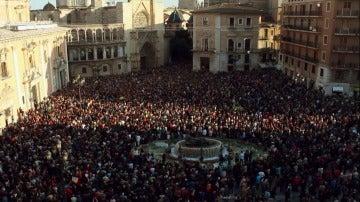 Manifestación en apoyo a las víctimas del metro de Valenciua