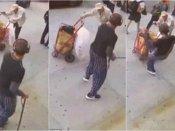 Imágenes de la agresión al anciano