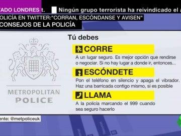Los consejos de la Policía británica