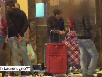 Mercadillo clandestino e ilegal en Madrid