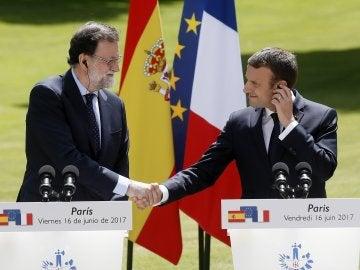 Encuentro entre Rajoy y Macron