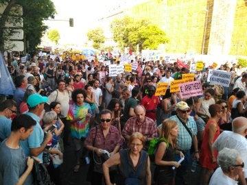 Manifestación en Madrid a favor de los refugiados