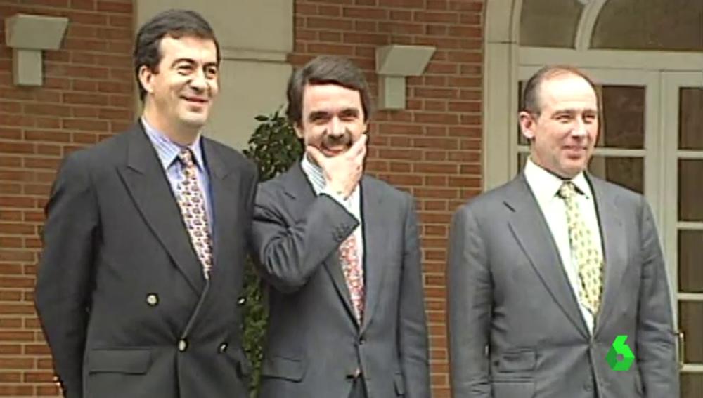 Aznar junto a los imputados por el caso Gürtel