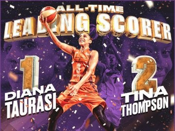 Diana Taurasi, máxima anotadora de la historia de la WNBA