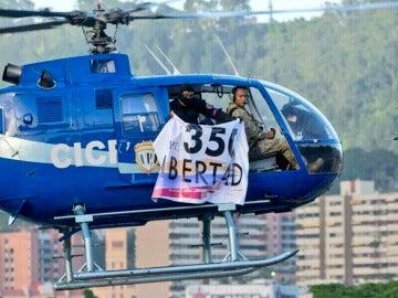 Helicóptero con el que se atacó a la sede del Tribunal Supremo en Venezuela