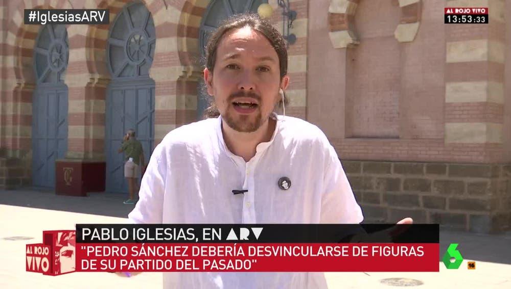 Pablo Iglesias, durante su entrevista en Al Rojo Vivo