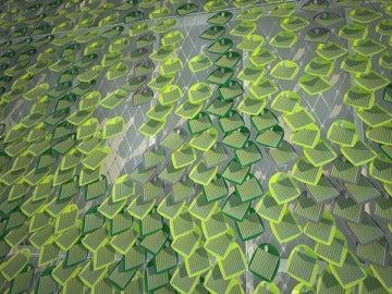 Una muestra de la hiedra fotovoltaica