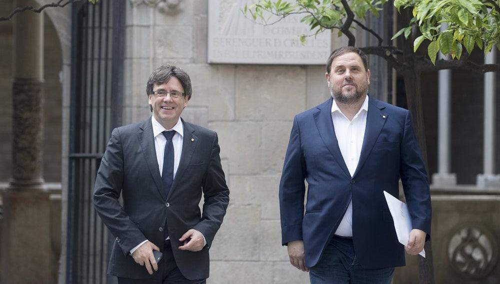 Puigdemont y Oriol Junqueras