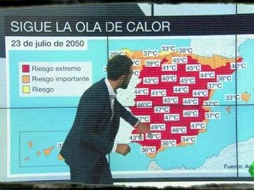 Un ejemplo de una previsión meteorológica del futuro