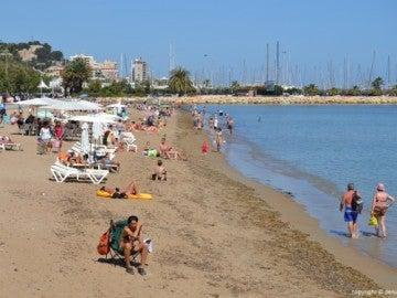 Una playa de Dénia (Alicante)