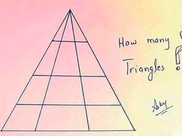 Cuantos triángulos ves en la foto