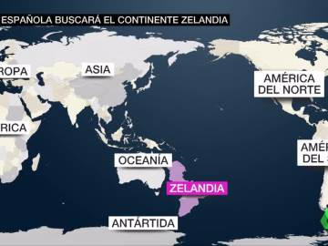 Zelandia sería el octavo continente del planeta