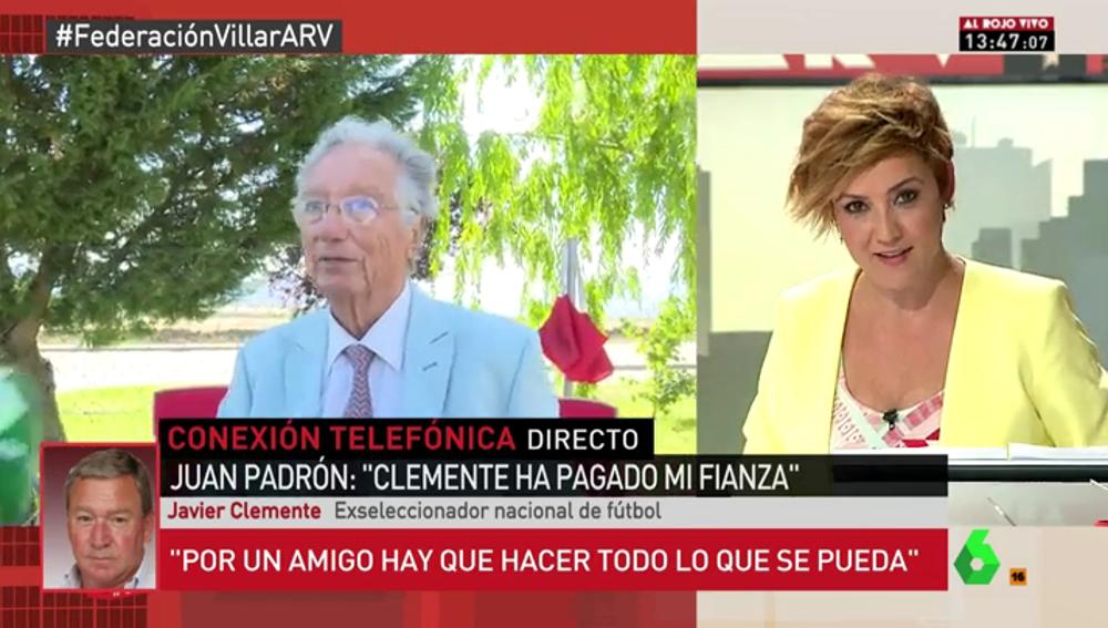 """Javier Clemente: """"Aunque Padrón fuera culpable le hubiera pagado la fianza porque en la cárcel no se puede estar"""""""