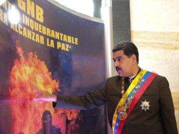 Nicolás Maduro durante la conmemoración de los 80 años de la creación de la Guardia Nacional Bolivariana