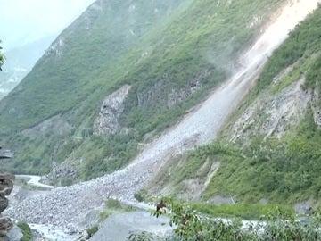 deslizamiento tierra en China