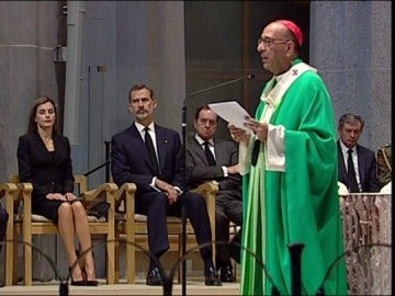 Misa en la Sagrada Familia por las víctimas de los atentados de Barcelona y Cambrils