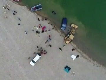 El coche de los jóvenes desaparecidos en el pantano de Susqueda no cayó al agua por accidente