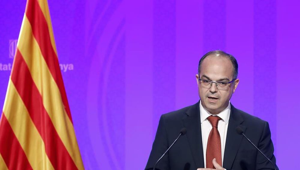 Jordi Turull, durante una rueda de prensa