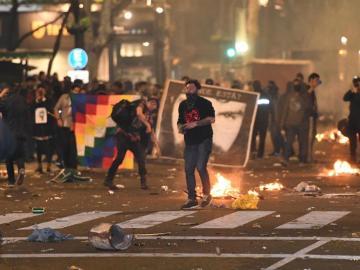 La manifestación terminó con un enfrentamiento con la policía