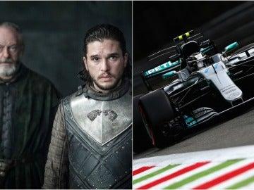 Jon Snow y Ser Davos en el GP de Monza