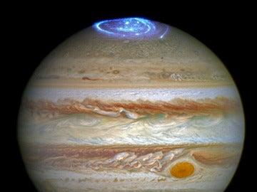 Imagen de aurora Júpiter con el Hubble