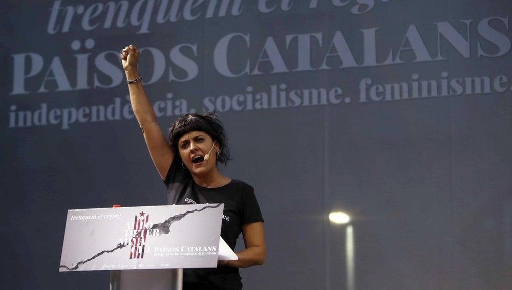 Anna Gabriel en la manifestación alternativa de la CUP